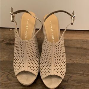 Chinese Laundry Suede Wedge Heel